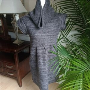 Dragonfly sweater dress heather gray